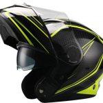 casco modular moto